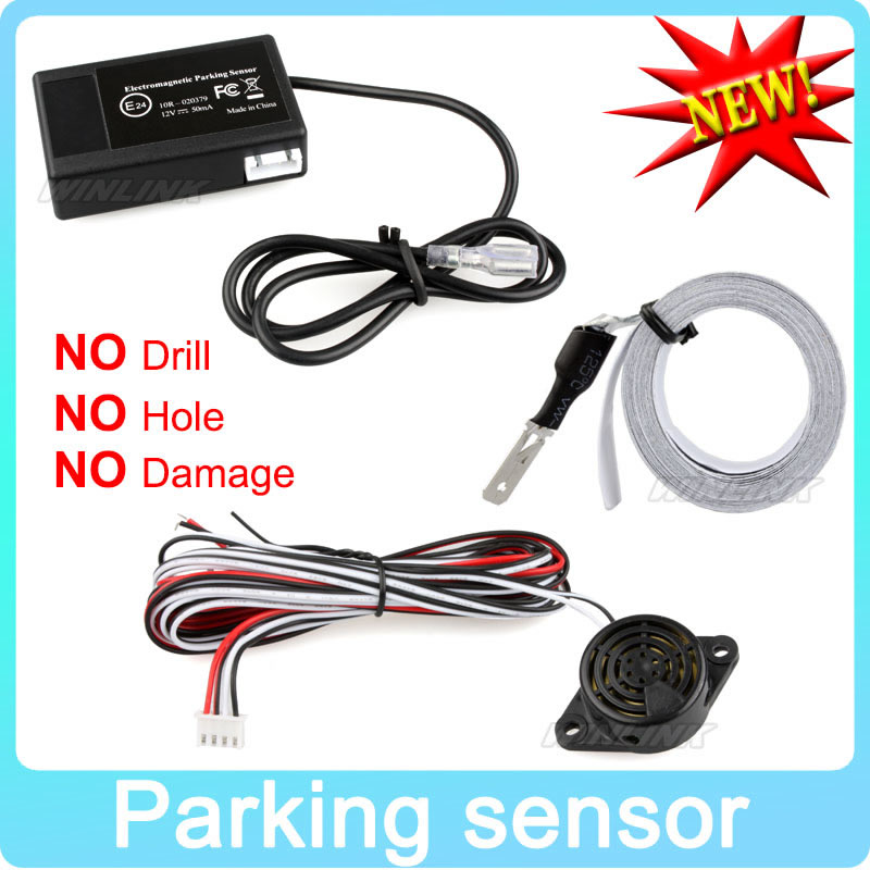 Hot Car Electromagnetic Parking Sensor No Holes\Easy Install Parking Radar Bumper Guard Backup Reversing Parking System