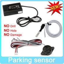 Hot Car Sensore di Parcheggio Elettromagnetico Senza Fori  Facile Da installare Radar di Parcheggio Paraurti Backup di Retromarcia Sistema di Parcheggio