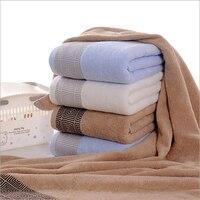 100% хлопок коричневый пляжное полотенце для взрослых вышитые прямоугольные простые окрашенные полотенца для ванной комнаты быстросохнущее...