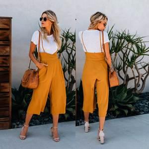 07987e1a72 bigarren rose 2018 summer women Loose trousers Casual green