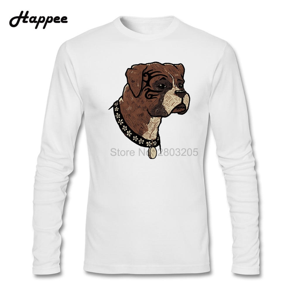 Design your own t-shirt for dogs - The Boxer Dog T Shirts Men S Funny Printed Tshirt Youth Cheap Sale Long Sleeve 100