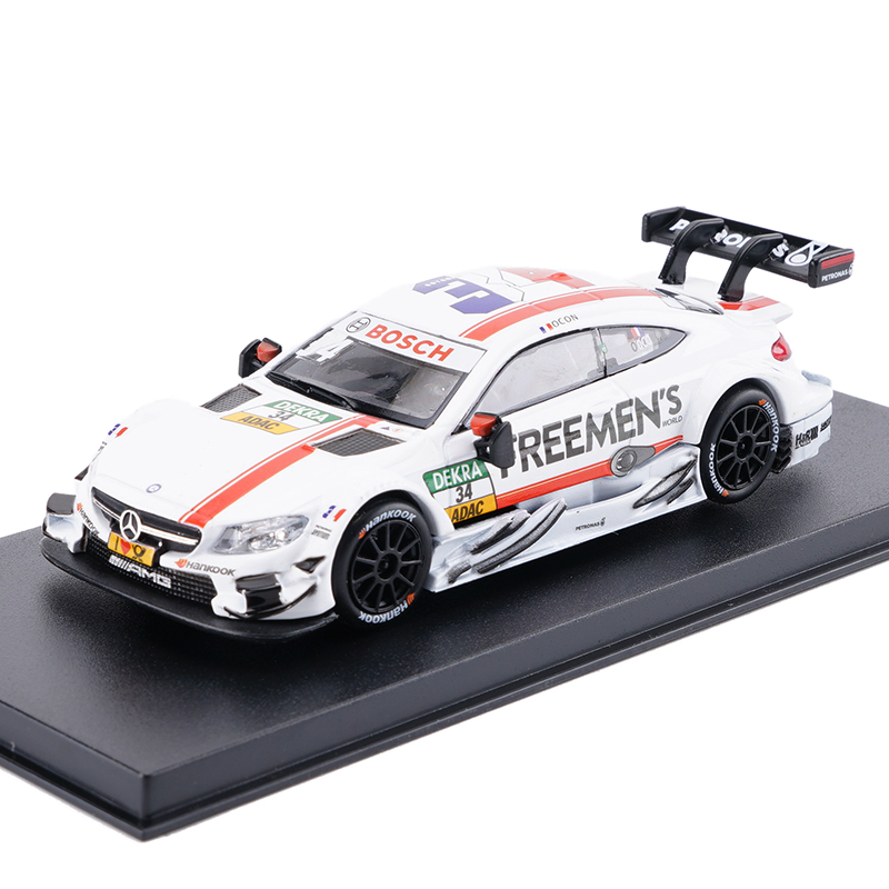Купить с кэшбэком High Simulation Painting Diecaste Vehicles Toy Vehicles Car For Benz C63 AMG DTM Race Car 1:43 Alloy Diecast Car Model Toy Car
