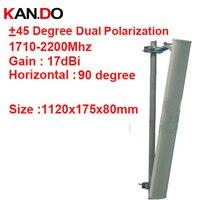 17dbi двойной поляризация + 45 & 45 градусов 1710 2200 мГц панельная антенна DCS 3G антенны базовой станции LTE FDD антенны TDD 4 г LTE антенны