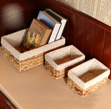 Storage basket storage box finishing straw rattan