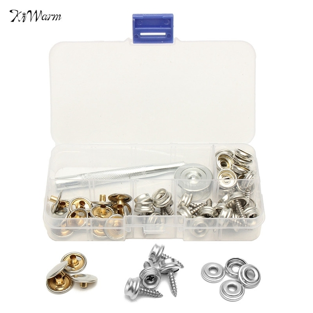 62pcs Boat Cover Canopy Fittings Stainless Steel Canvas to Screw Press Stud Kit Tools Canopies tent  sc 1 st  AliExpress.com & 62pcs Boat Cover Canopy Fittings Stainless Steel Canvas to Screw ...