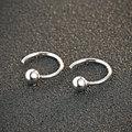 GZ 925 Silver Earring Round Ball Open Women 100% S925 Sterling Silver boucle d'oreille Hoop Earrings christmas Gift