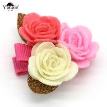 1pcs Women's Felt Rose Flowers Hair Clips Hairpins Barrettes For Women Girl's Hair Clips Flower Hairgrips Hair Accessories