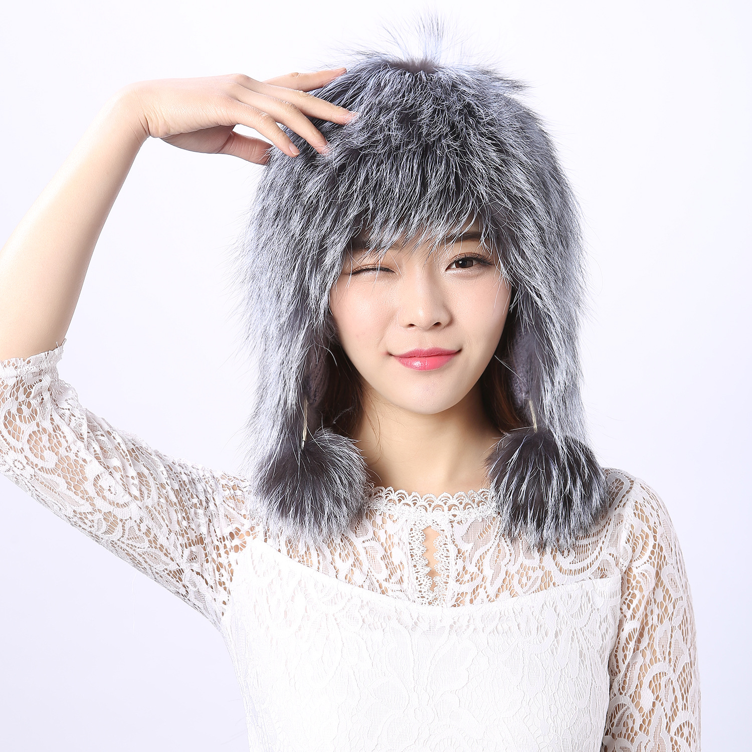 Manufacturers Directly selling genuine fox fur girl hat lady hats women cap winter warm ear cap female fox fur ball caps ac1005 3 pneumatic hydraulic shock absorber damper damper ac1005 specifications m10 1 0 low speed