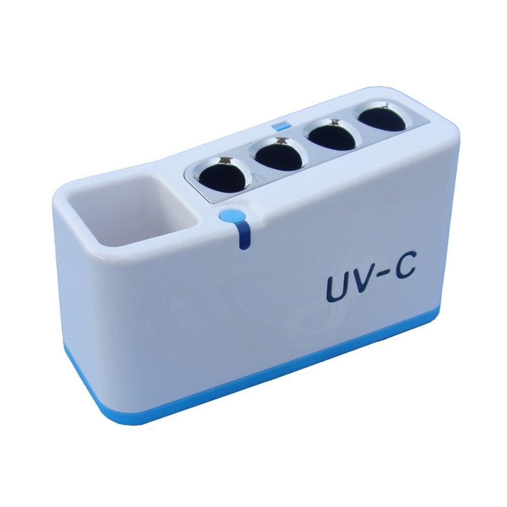 Hot sale Household UV toothbrush sanitizer holder UV light tooth brush sterilizer UVC toothbrush disinfector toothbrush holder