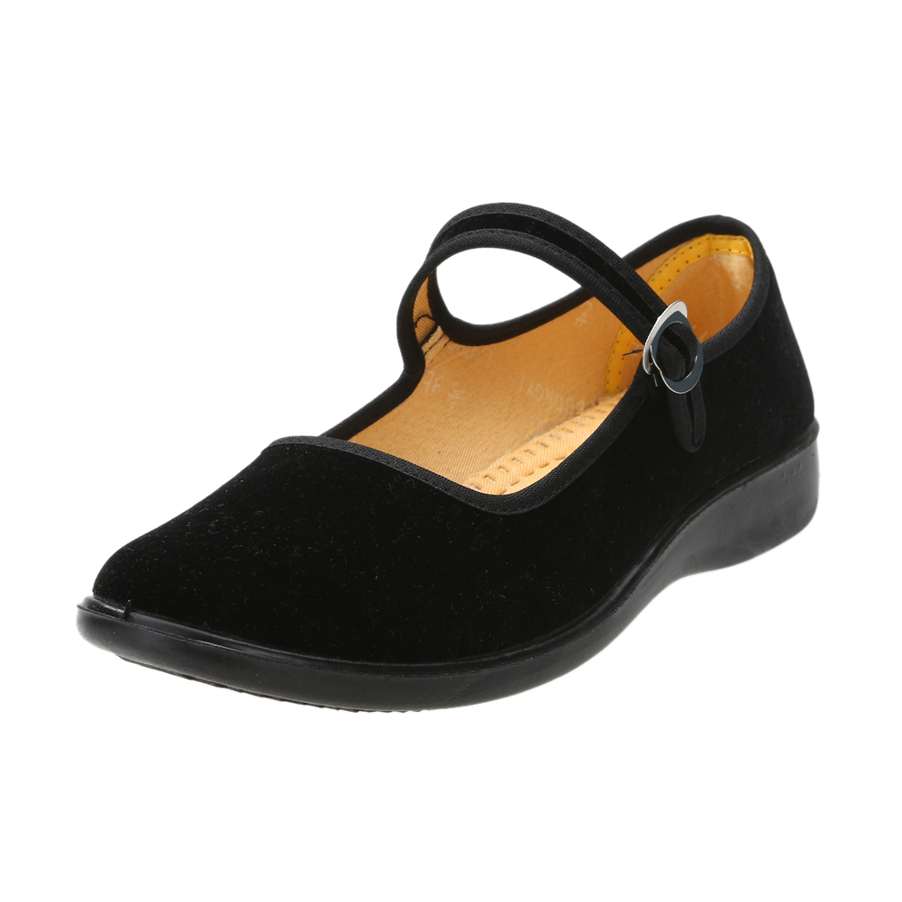 Cloth Shoes Women Flats Casual Shoes Rubber Black Mary Janes Confortable Soft Mother Shoes Casual Work Traditional Chinese Shoes factory direct sale women cloth shoes new designer shoes bowknot casual shoes work flats