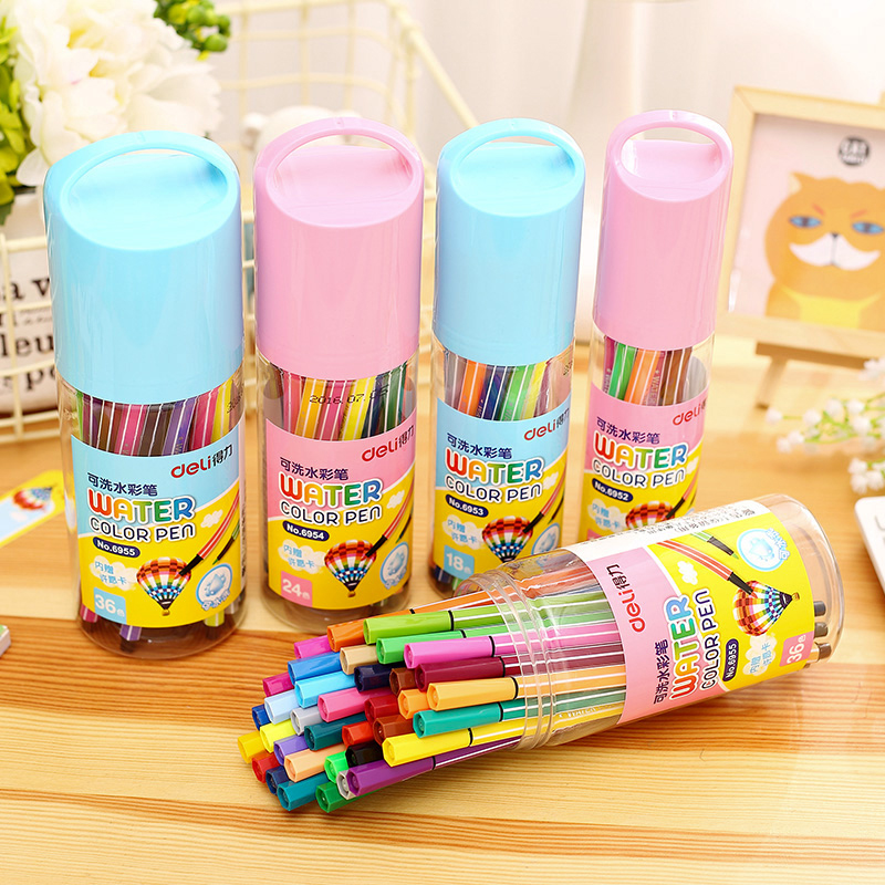 Washable Watercolor Pen Safe Non-toxic Office School Painting Supplies 36 Color Art Marker for Student