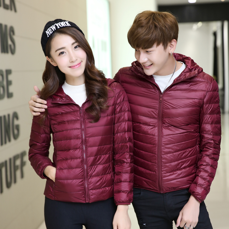2017 Winter New Men and Women Down Coats & Jackets Couple Couple Slim Warm and Comfortable Clothing Fashion Casual Mens Coat