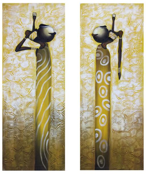 Hand painted canvas Paintings Africa Music style Abstract Wall Art ...