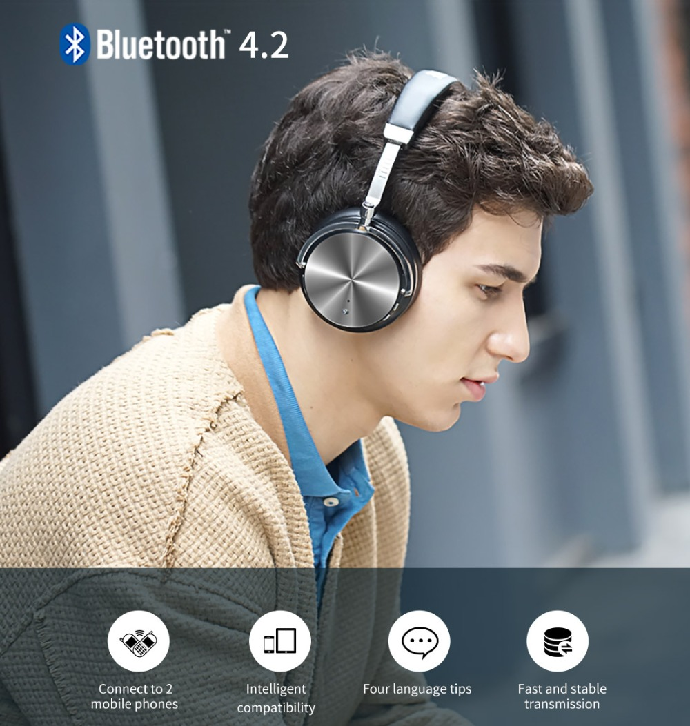 2017 Headphone Earphones New Bluedio T4 Bluetooth Headphones Headset Portable with Microphone for Music earphone