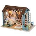 Móveis Casa de bonecas Em Miniatura Diy 3D De Madeira Miniaturas Casa De Bonecas Brinquedos para As Crianças de Aniversário Presente de Natal Floresta Vezes Z007