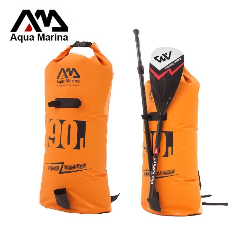 35 * 120cm 90L veekindel seljakott kott lamineeritud PVC Aqua Marina jaoks kogu suurusega püsti mõla kandekott, õlakott käsi A05008