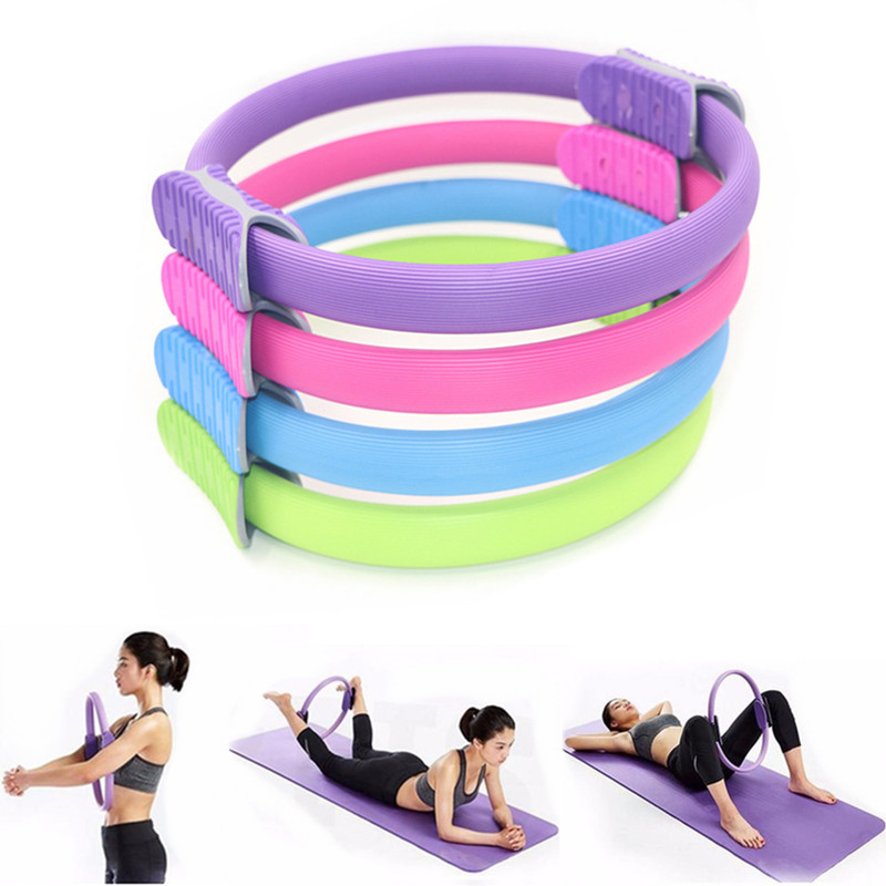 38cm Yoga Pilates Magic Rings Body Building Training Yoga Circle Workout Fitness Exercise Ring