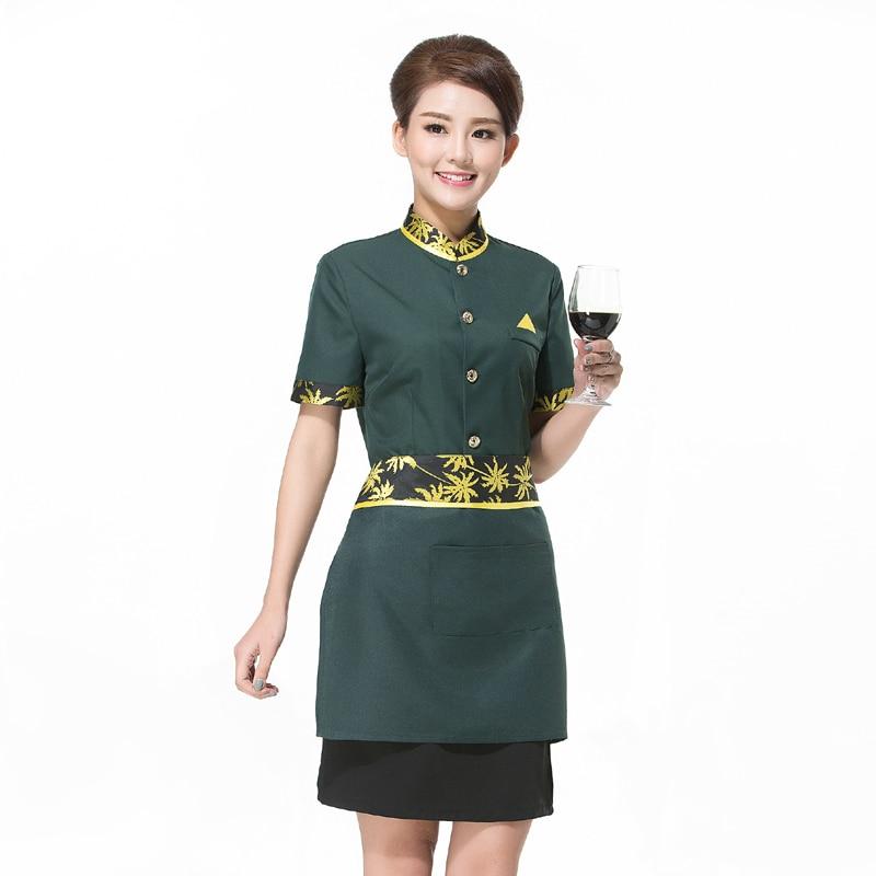 Chef Uniform Hotelski konobar Radne odjeće Radna odjeća s kratkim rukavima Ženski restoran sa zapadnim restoranom