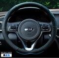 38 cm estilo do carro genuíno Cobertura de volante de couro para Kia Sportage R K2 RIO K5 K3 Celato OPTIMA Sorento VQ KX3 K4 Carens
