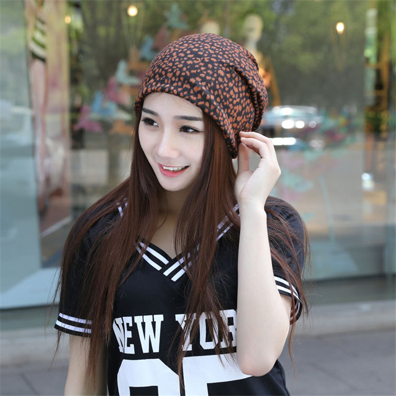 Spring and Summer Hat tide Ms. leopard Scarf Cap sleeve head cap Cap month of Baotou Hedging Hat Skullies M110 skullies 2017 new arrival hedging hat female autumn and winter days wool cap influx of men and women scarf scarf hat 1866729