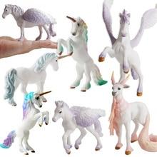 Nette Pegasus Tenma Elfen Schafe Einhorn Modell Simulation Mini Tier Pferd Modell Figur Wilden Figuren Kinder Pädagogisches Spielzeug Geschenke