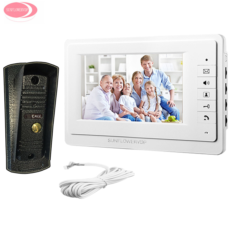 7inch Home Video Door Phone Speakerphone System Unit 700lines Metal Camera Video Intercom With font b