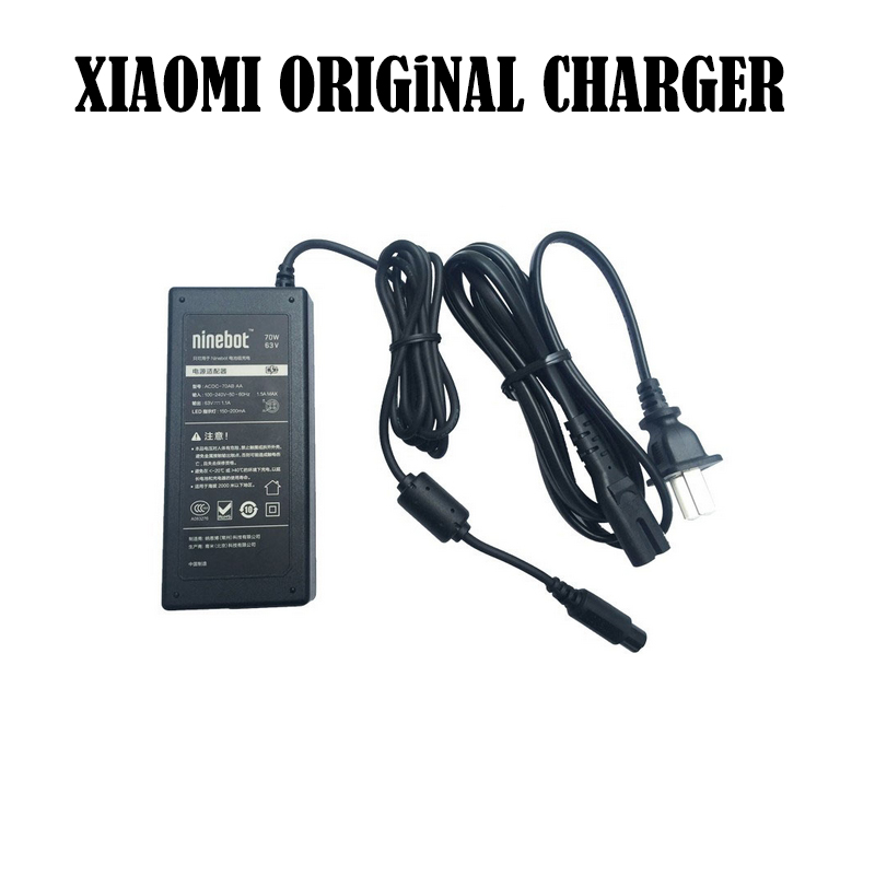 Original 70W battery charger for Xiaomi Mini Pro and Xiaomi Mini hoverboard Xiaomi accessaries Ninebot nine scooter charger original ninebot xiaomi ninebot plus electric 11 inch self balancing scooter