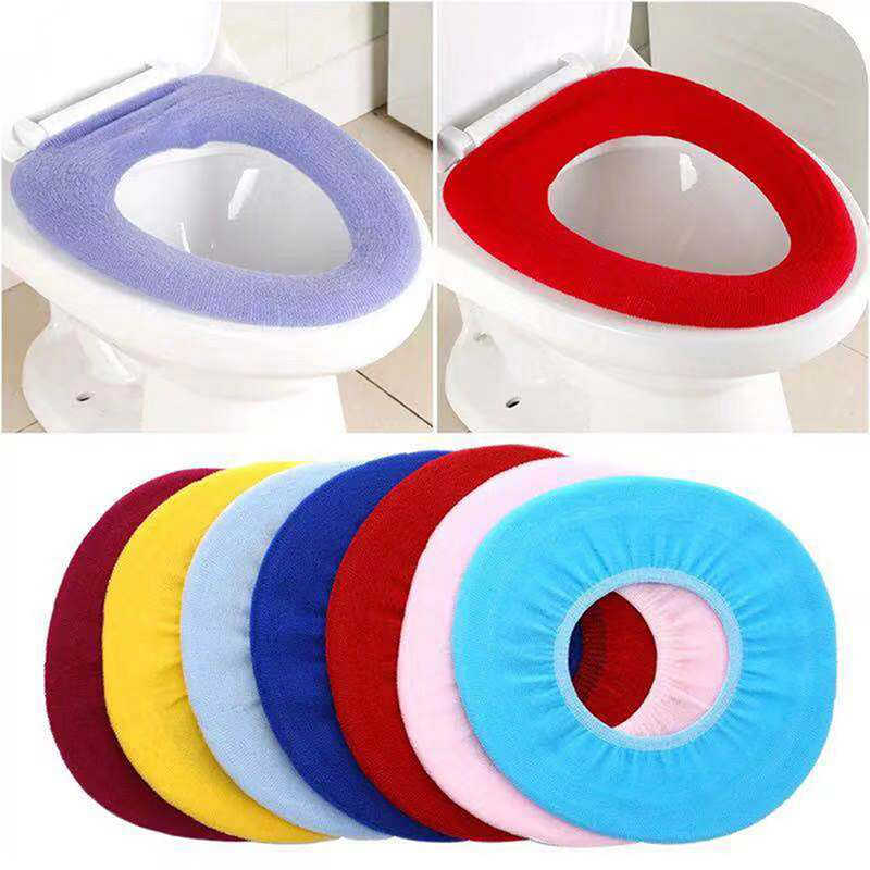 Tampa do assento do vaso sanitário tapete quente macio tampa do assento almofada do banheiro closestool protector acessórios do banheiro conjunto