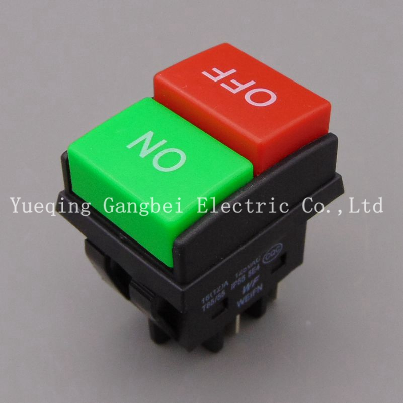 Rocker switch  WF03-C1 KCD4 button start stop control button double red  1NO 1NC New type Superior quality