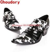 Choudory mens patent leather black shoes high heels handmade italian mens shoes mariage dress wedding 2017 oxford shoes men
