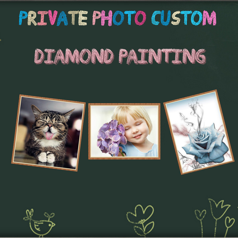 Personalizado, 5D, DIY, Privado, Foto, Pintura de diamantes, Mosaico, Haga su propio y familiar, Bordado de diamantes, Punto de cruz, Manualidades, Regalo memorable