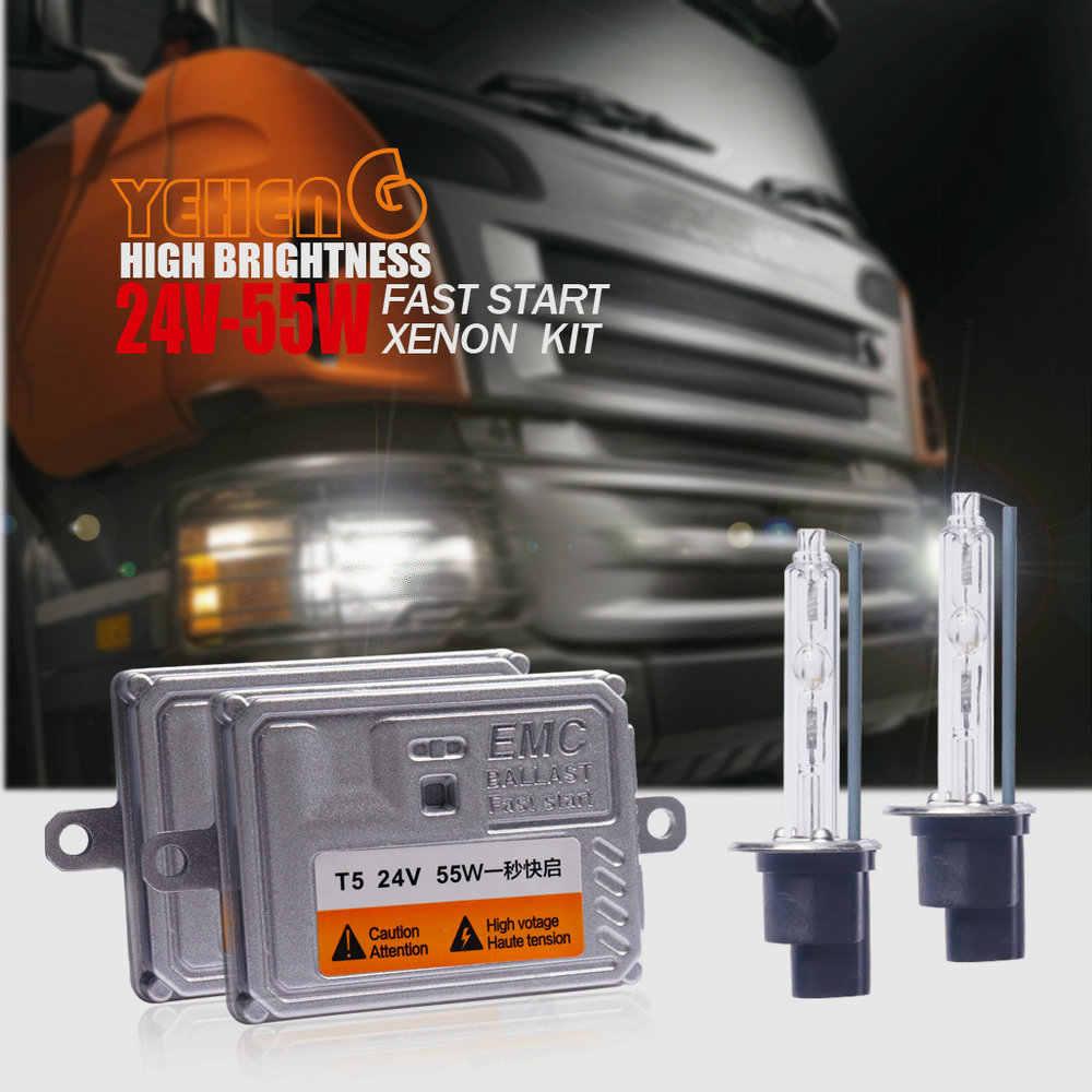 24V 55W HEADLIGHT HID Xenon kit Slim Ballast truck light H1 H3 H7 H8 H9 H11 9006 9005 9012/HIR2 D2H H4H/L 6000K 4300K