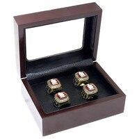 Без Кольца оптовая продажа деревянный Коробки 4 отверстия Кольца положение Кольца чемпиона упаковки и Дисплей коробка