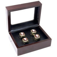 Bez Pierścienie Hurtowych Drewniane Pudełka 4 Otwory Pierścienie Mistrzowskie Pierścienie Pozycji Pakowanie i Wyświetlacz Box