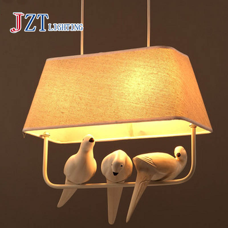 T 2016 New Northern Europe Creative Birds Pendant Lights Leisure Modern Personality Lamps For Bedroom Foyer Balcony Artistical bamboo bedroom pendant lights balcony
