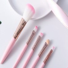 Makeup Brush Five-piece Set Eye Shadow Foundation Eyeliner Eyelash Lipstick Lipstick Makeup brushes Cosmetic Tools