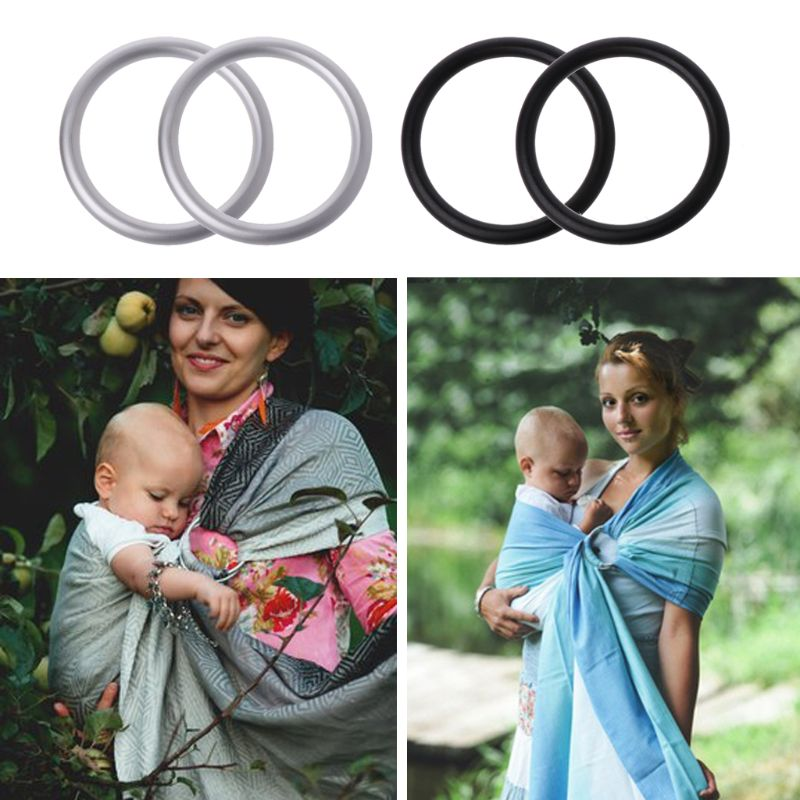Galleria fotografica 2Pcs 2inch Baby Carrier Aluminium Ring for Baby Sling High Quality Baby Carriers Accessories