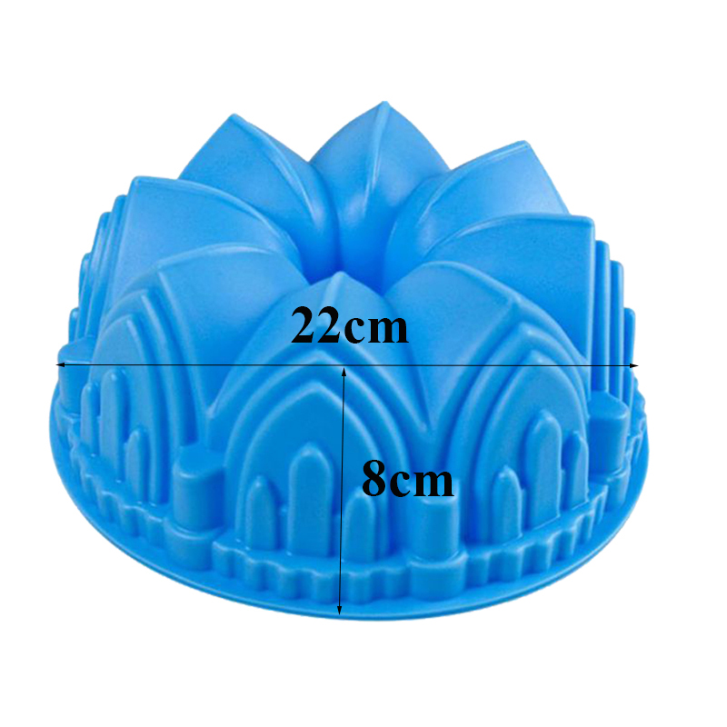 1PC Large Size Crown Castle Silicone Cake Mold 3D Birthday Cake Pan Decorating Tools Large Bread Fondant DIY Baking Pastry Tool in Cake Molds from Home Garden