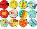 Кэндис го! мультфильм барабан погремушки деревянные игрушки Орфа колокольчики детские музыкальные инструменты игрушки танцы 2 шт.