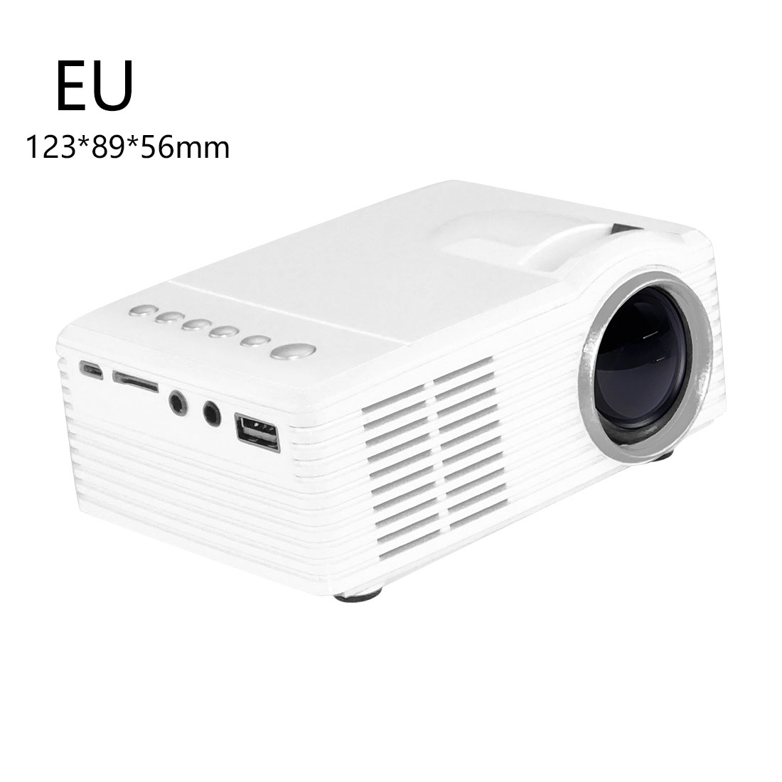 centechia New EU Plug MG300 Portable LCD Projector 3.5mm Audio 320x240 Pixel HDMI USB Mini MG300 Projector Home Media Player