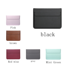 HUEVM Leather Sleeve Bag Stand Cover For Apple Macbook Air Retina 11 12 13 15 Laptop Case For new Pro 13.3 inch air 13.3 inch