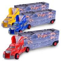 Rodas de Veículos Pesados De Transporte quente 6 Camadas Pequeno Carro de Brinquedo Caminhão Transportador De Armazenamento Escalável Menino Brinquedo Educativo