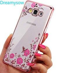 2018 Para Samsung Galaxy A5 A7 A3 S5 S6 S7 borda S8 Plus J3 J5 J7 Grand Prime Chapeamento Rosa diamonds Macio TPU Tampa Da Caixa Clara