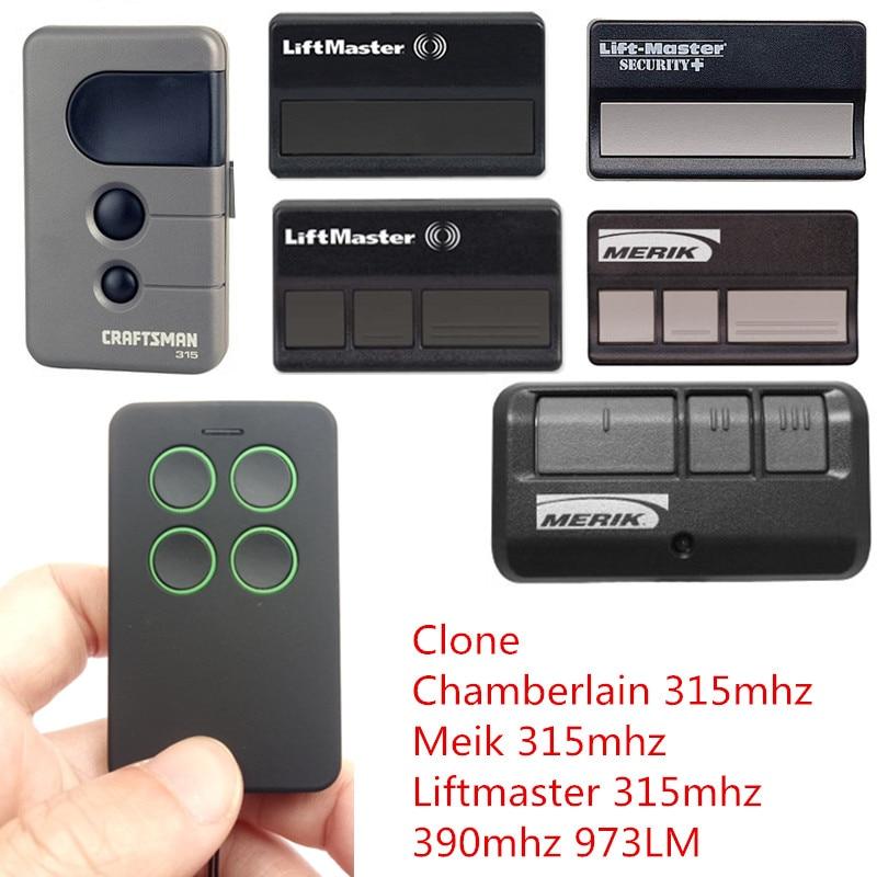 315MHZ Chamberlain Craftsman 139 53753 liftmaster Merik 371LM 373LM  replacement garage door remote control Free Shipping