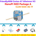 H3 Allwinner четырехъядерный процессор Cortex-A7 FriendlyARM NanoPi NEO (512 М ОПЕРАТИВНОЙ ПАМЯТИ) + TTL + Теплоотвод + 8 ГБ TF Карта + Power + Кабель USB = NanoPi NEO Пакет