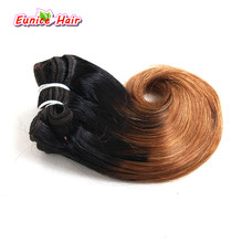 "Ombre Pink Hair Extensions Short Brazilian Body Wave Hair Weft Weaves 4pcs/pack 100g Bundles 8"" Body Wave(China)"