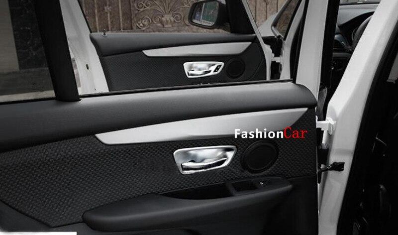 Voiture intérieur porte poignée bol couvercle garniture 4 pièces 3D autocollant pour BMW série 2 Active Tourer F45 Gran Tourer F46 2015 2016