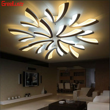 Modern LED Ceiling Light Plafondlamp luster Decoration Iron Lamp Living Room Lighting Luminaria Led 110v-260v