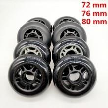 Frete grátis patins de rolo não-piscando roda de skate 72 mm 76 mm 80 mm
