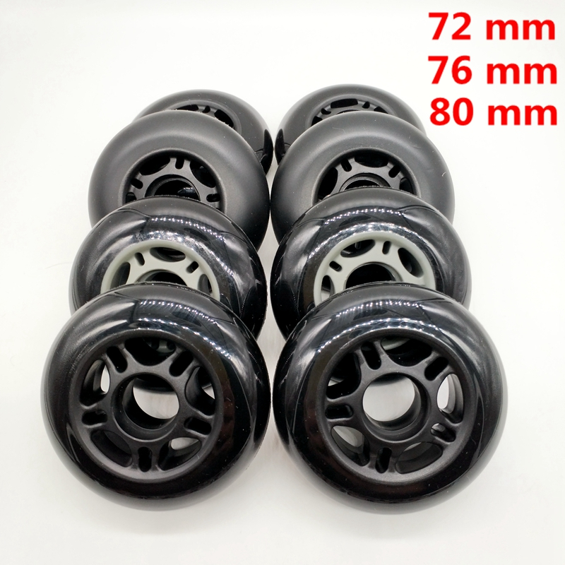 Free Shipping Roller Skates Non-flashing Wheel Skate Wheel 72 Mm 76 Mm 80 Mm Bearing ABEC-9